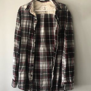 •on the byas• Black, White, & Red Plaid Flannel